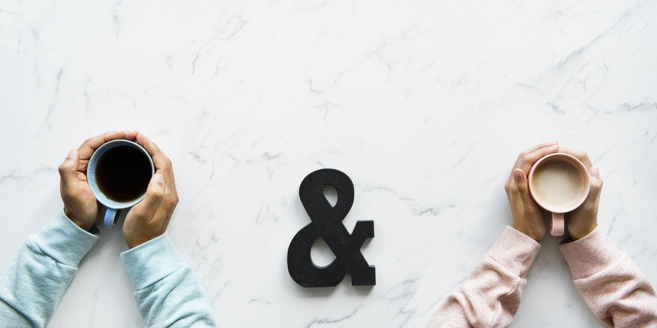 man en vrouw koffie
