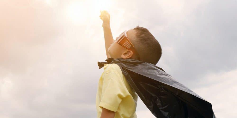 Jongen cape held