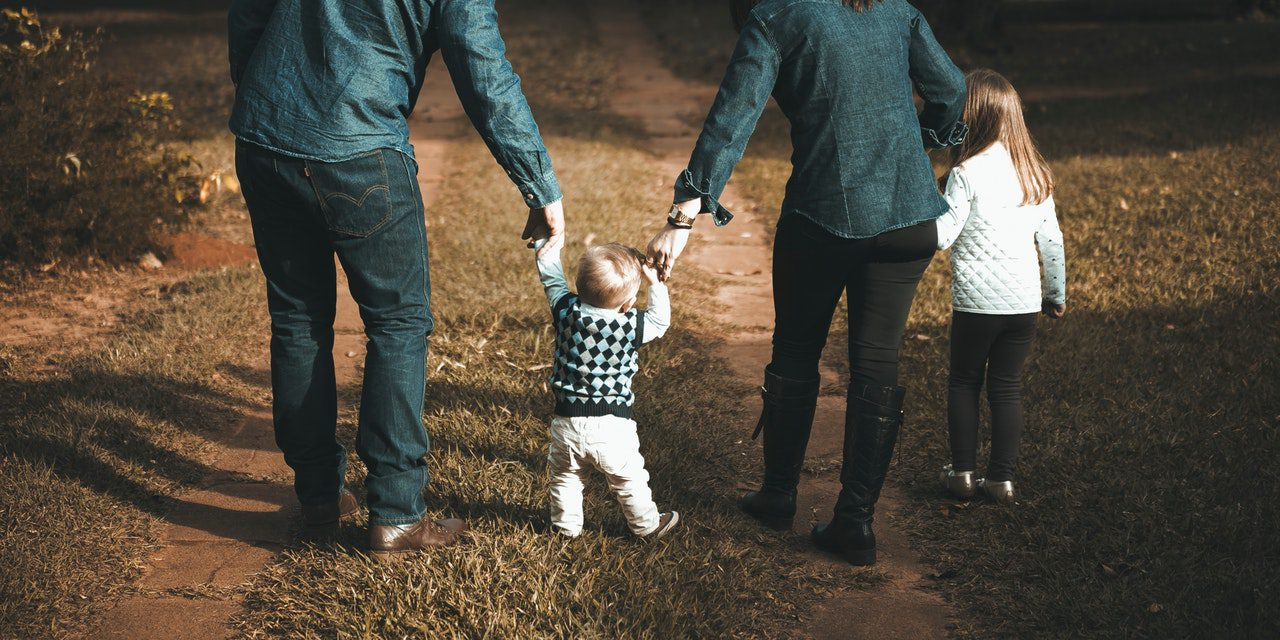 Familie op pad